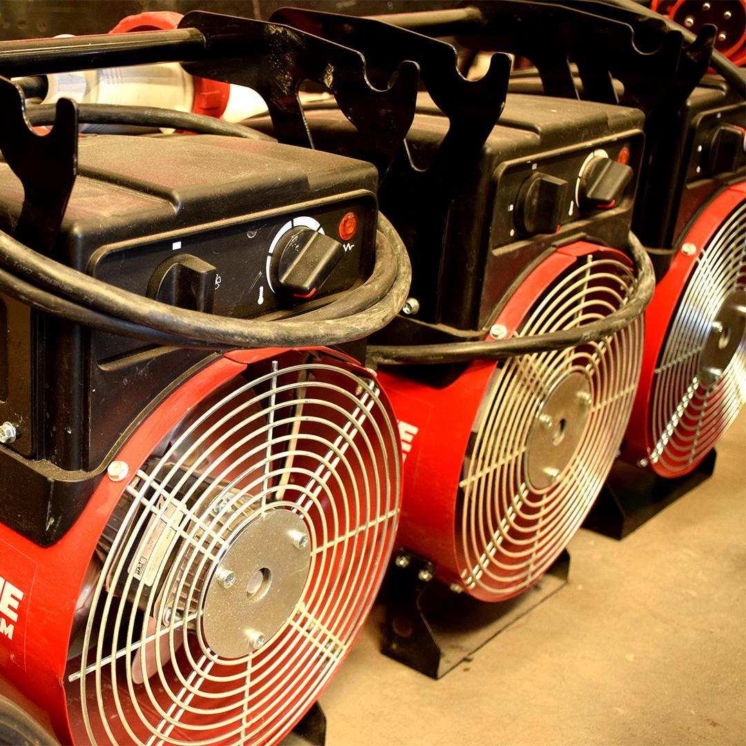 Generatori aria calda, deumidificatori e ventilatori